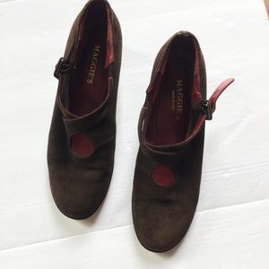 Maggie's Italian Made Brown Suede Mary Janes EU 42